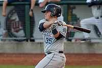 West Michigan Whitecaps catcher Kade Scivicque (35) at bat during game five of the Midwest League Championship Series against the Cedar Rapids Kernels on September 21st, 2015 at Perfect Game Field at Veterans Memorial Stadium in Cedar Rapids, Iowa.  West Michigan defeated Cedar Rapids 3-2 to win the Midwest League Championship. (Brad Krause/Four Seam Images)