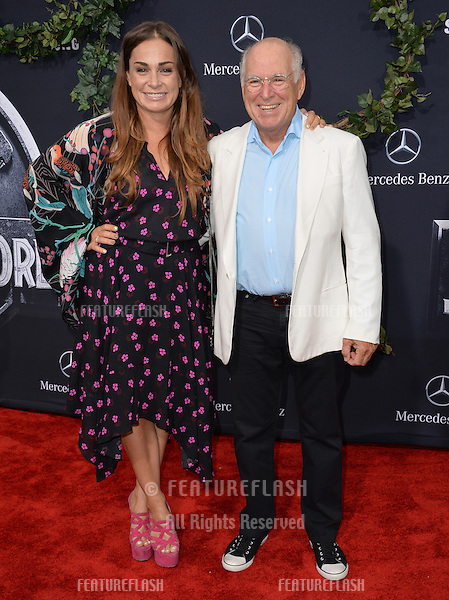 """Jimmy Buffett & daughter at the world premiere of """"Jurassic World"""" at the Dolby Theatre, Hollywood.<br /> June 10, 2015  Los Angeles, CA<br /> Picture: Paul Smith / Featureflash"""