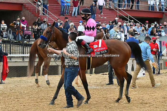 March 13, 2021: Concert Tour #7 , ridden by Joel Rosario wins the Rebel Stakes for trainer Bob Baffert at Oaklawn Park in Hot Springs,  Arkansas. Ted McClenning/Eclipse Sportswire/CSM