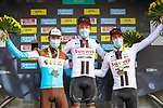 Casper Pedersen (DEN) Team Sunweb wins Paris-Tours 2020, with Benoit Cosnefroy (FRA) AG2R-La Mondiale in 2nd place and Joris Nieuwenhuis (NED) Team Sunweb 3rd, running 213km from Chartres to Tours, France. 11th October 2020.<br /> Picture: ASO/Jonathan Biche | Cyclefile<br /> All photos usage must carry mandatory copyright credit (© Cyclefile | ASO/Jonathan Biche)