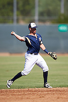 Milwaukee Brewers second baseman Tucker Neuhaus (48) during an Instructional League game against the Cincinnati Reds on October 14, 2016 at the Maryvale Baseball Park Training Complex in Maryvale, Arizona.  (Mike Janes/Four Seam Images)