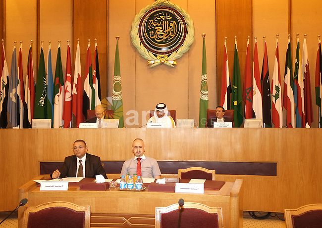 Arab Ministers of water affairs attend a meeting in Cairo on May 27, 2015. The Arab Ministerial Water Council, in its seventh session Wednesday, discussed the issue of water security at its meeting headed by Bahraini Energy Minister, Abdulhussain bin Ali Mirza, at the Arab League in Cairo. Photo by Amr Sayed