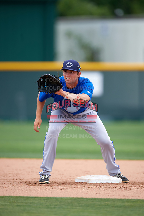 Toronto Blue Jays John La Prise (11) during practice before a minor league Spring Training game against the Pittsburgh Pirates on March 24, 2016 at Pirate City in Bradenton, Florida.  (Mike Janes/Four Seam Images)