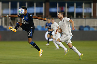 SAN JOSE, CA - SEPTEMBER 5: Danny Hoesen #9 of the San Jose Earthquakes plays the ball during a game between Colorado Rapids and San Jose Earthquakes at Earthquakes Stadium on September 5, 2020 in San Jose, California.