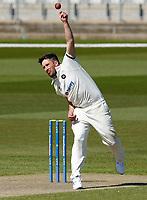 15th April 2021; Emirates Old Trafford, Manchester, Lancashire, England; English County Cricket, Lancashire versus Northants;  Simon Kerrigan of Northamptonshire bowling