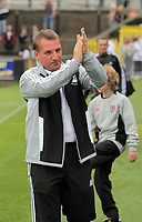 Pictured: Swansea manager Brendan Rodgers. Saturday 17 July 2011<br /> Re: Pre season friendly, Neath Football Club v Swansea City FC at the Gnoll ground, Neath, south Wales.