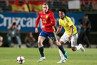 Spain's Gerard Deulofeu (l) and Colombia's Juan Guillermo Cuadrado during international friendly match. June 7,2017.(ALTERPHOTOS/Acero) (NortePhoto.com) (NortePhoto.com)