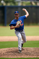 GCL Mets pitcher Mitchell Senger (94) during a Gulf Coast League game against the GCL Astros on August 10, 2019 at FITTEAM Ballpark of the Palm Beaches Training Complex in Palm Beach, Florida.  GCL Astros defeated the GCL Mets 8-6.  (Mike Janes/Four Seam Images)