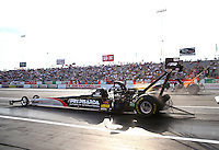 May 31, 2013; Englishtown, NJ, USA: NHRA top fuel dragster driver Larry Dixon during qualifying for the Summer Nationals at Raceway Park. Mandatory Credit: Mark J. Rebilas-