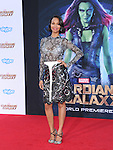 Zoe Saldana<br />  attends The Marvel Studios World Premiere GUARDIANS OF THE GALAXY held at The Dolby Theatre in Hollywood, California on July 21,2014                                                                               © 2014Hollywood Press Agency