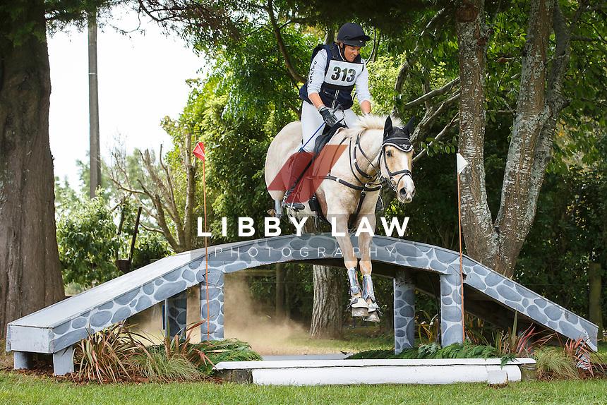 NZL-Donna Edwards-Smith (MR HOKEY POKEY) INTERIM-5TH: CIC3* CROSS COUNTRY: 2016 NZL-Kihikihi International Horse Trial (Saturday 9 April) CREDIT: Libby Law COPYRIGHT: LIBBY LAW PHOTOGRAPHY