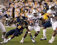 October 23, 2008: Auburn running back Mario Fannin (27). The West Virginia Mountaineers defeated the Auburn Tigers 34-17 on October 23, 2008 at Mountaineer Field, Morgantown, West Virginia.