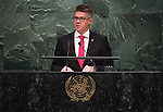CELAND<br /> H.E. Gunnar Bragi SVEINSSON Minister for Foreign Affairs<br /> General Assembly 70th session 25th plenary meeting<br /> Continuation of the General Debate