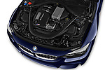 Car stock 2018 BMW M4 Base 2 Door Convertible engine high angle detail view