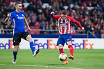 Atletico de Madrid Kevin Gameiro and FC Copenhague Jan Gregus during Europa League match between Atletico de Madrid and FC Copenhague at Wanda Metropolitano in Madrid , Spain. February 22, 2018. (ALTERPHOTOS/Borja B.Hojas)