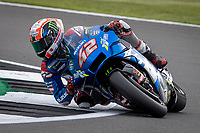 28th August 2021; Silverstone Circuit, Silverstone, Northamptonshire, England; MotoGP British Grand Prix, Qualifying Day; Team Suzuki Ecstar rider Alex Rins on his Suzuki GSX-RR