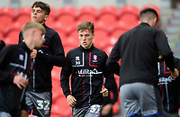 Lincoln City's Ben Sault during the pre-match warm-up<br /> <br /> Photographer Chris Vaughan/CameraSport<br /> <br /> EFL Leasing.com Trophy - Northern Section - Group H - Doncaster Rovers v Lincoln City - Tuesday 3rd September 2019 - Keepmoat Stadium - Doncaster<br />  <br /> World Copyright © 2018 CameraSport. All rights reserved. 43 Linden Ave. Countesthorpe. Leicester. England. LE8 5PG - Tel: +44 (0) 116 277 4147 - admin@camerasport.com - www.camerasport.com