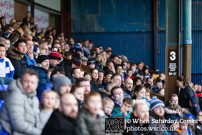 Stockport fans in The Popular Side. Stockport County v Barnet, 07032020. Edgeley Park, National League. Photo by Paul Thompson.