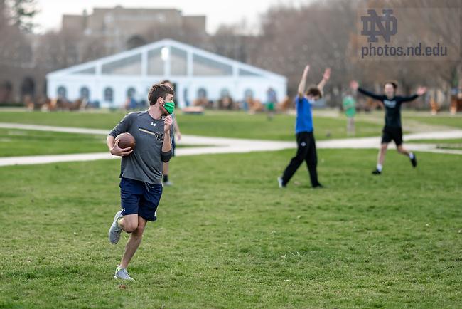 November 20, 2020; Football on the quad, fall 2020 (Photo by Matt Cashore/University of Notre Dame)