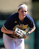 Michigan Wolverines Softball utility player Kelsey Susalla (7) during a game against the Bethune-Cookman on February 9, 2014 at the USF Softball Stadium in Tampa, Florida.  Michigan defeated Bethune-Cookman 12-1.  (Copyright Mike Janes Photography)