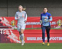 Belgium - The Netherlands : Kelly Zeeman en Angela Christ.foto DAVID CATRY / Vrouwenteam.be