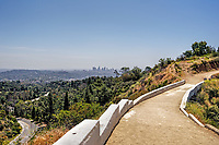The foot bridge that crosses from hiking trails to Griffith Observatory. A part of Griffith Park, Hollywood, CA.