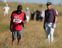 17th July 2021; Royal St Georges Golf Club, Sandwich, Kent, England; The Open Championship Golf, Day Three; Jordan Speith (USA) prepares to play his second shot from the rough on the 12th hole