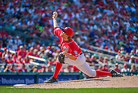 24 May 2015: Washington Nationals pitcher Casey Janssen on the mound against the Philadelphia Phillies at Nationals Park in Washington, DC. The Nationals defeated the Phillies 4-1 to take the rubber game of their 3-game weekend series. Mandatory Credit: Ed Wolfstein Photo *** RAW (NEF) Image File Available ***