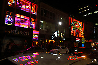 Montreal Qc CANADA _ august 2012 : retails stores in downtown Montreal. - Strippers clubs on Sainte Catherine street.