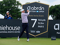 7th July 2021; North Berwick, East Lothian, Scotland; Ian Poulter England on the 7th tee during the Celebrity Pro-Am at the abrdn Scottish Open at The Renaissance Club, North Berwick, Scotland.