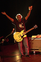 Pictured: Mike Randle 20 March 2004<br /> Re: Love with Arthur Lee at the Brycheiniog Theatre in Brecon, Powys, Wales, UK