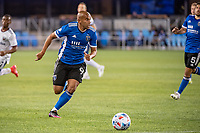 SAN JOSE, CA - MAY 01: Judson #93 of the San Jose Earthquakes looks up to pass the ball during a game between San Jose Earthquakes and D.C. United at PayPal Park on May 01, 2021 in San Jose, California.