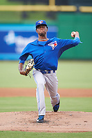GCL Blue Jays starting pitcher Wilfri Aleton (54) during a game against the GCL Phillies on August 16, 2016 at Bright House Field in Clearwater, Florida.  GCL Blue Jays defeated GCL Phillies 2-1.  (Mike Janes/Four Seam Images)