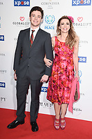 Emma Samms and Son<br /> arriving for the Football for Peace initiative dinner by Global Gift Foundation at the Corinthia Hotel, London<br /> <br /> ©Ash Knotek  D3493  08/04/2019
