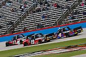 #17: Dylan Lupton, DGR-Crosley, Ford F-150 Ford Crosley, #19: Derek Kraus, McAnally Hilgemann Racing, Toyota Tundra SHOCKWAVE/ENEOS, #4: Raphael Lessard, Kyle Busch Motorsports, Toyota Tundra CANAC