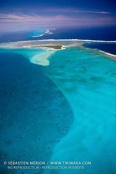 Ilot Ténia, spot de surf au large de Bouloupari, barričre de corail de Nouvelle-Calédonie