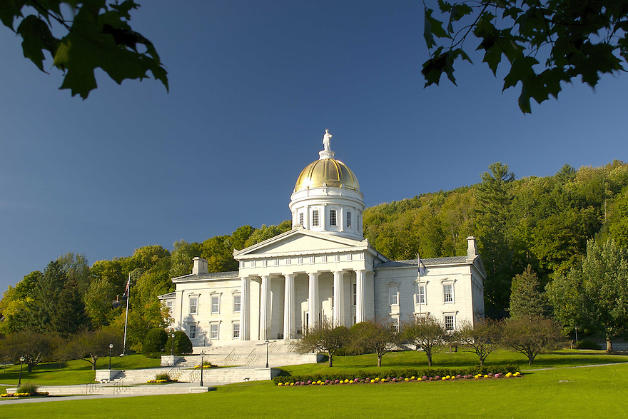 The state capitol building in Montpelier, Vermont.