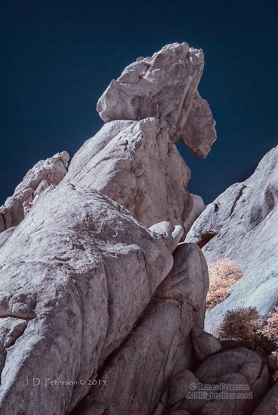 Balanced Rock, Texas Canyon, Arizona (Infrared)