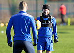 St Johnstone Training….Stevie May and David Wotherspoon pictured during training at McDiarmid Park ahead of Sundays game against Celtic.<br />