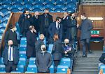 06.03.2021 Rangers v St Mirren: Steven Gerrard takers his seat in directors box