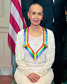 Carmen de Lavallade, one of he five recipients of the 40th Annual Kennedy Center Honors with his award as he poses for a group photo following a dinner hosted by United States Secretary of State Rex Tillerson in their honor at the US Department of State in Washington, D.C. on Saturday, December 2, 2017. The 2017 honorees are: American dancer and choreographer Carmen de Lavallade; Cuban American singer-songwriter and actress Gloria Estefan; American hip hop artist and entertainment icon LL COOL J; American television writer and producer Norman Lear; and American musician and record producer Lionel Richie.  <br /> Credit: Ron Sachs / Pool via CNP