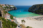 Spain, Menorca: Cala en Porter, beach at South East Coast | Spanien, Menorca: Cala en Porter, Strand an der Suedost-Kueste