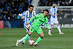 CD Leganes's Jose Luis Garcia del Pozo 'Recio' and Levante UD's Enis Bardhi during La Liga match between CD Leganes and Levante UD at Butarque Stadium in Leganes, Spain. March 04, 2019. (ALTERPHOTOS/A. Perez Meca)