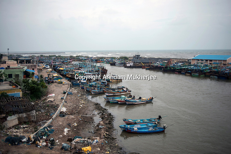 The fishing port of Nagapattinam which was totally devasted after 2004 Tsunami. Tamil Nadu, India.