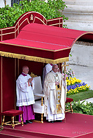 Pope Francis During the Easter Mass  in St. Peter's Square, at the Vatican. 16 April 2017
