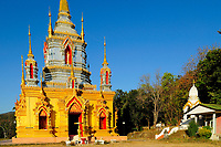Buddhist temple near Chiang Mai, Thailand, Southeast Asia.
