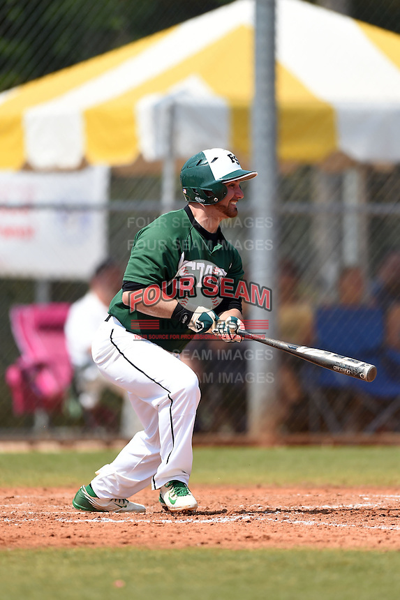 Farmingdale State Rams Anthony Alvino during a game against the U-Mass Boston Beacons at North Charlotte Regional Park on March 19, 2015 in Port Charlotte, Florida.  U-Mass Boston defeated Farmingdale 9-5.  (Mike Janes/Four Seam Images)