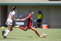 STANFORD, CA - SEPTEMBER 12: Maya Doms during a game between Loyola Marymount University and Stanford University at Cagan Stadium on September 12, 2021 in Stanford, California.