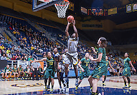Afure Jemerigbe of California shoots for the basket against Oregon at Haas Pavilion in Berkeley, California on January 5th, 2014. California defeated Oregon