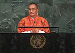 72 General Debate – 22 September <br /> <br /> His Excellency Lyonchoen Tshering Tobgay, Prime Minister of the Kingdom of Bhutan